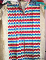 SILK embroidered PHULKARI KURTA FABRIC MATERIAL