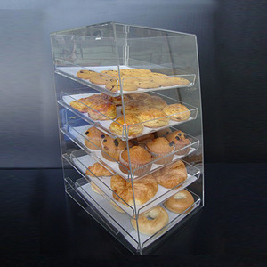 Acrylic Pastry Bakery Donuts Cupcake Display Case with Trays