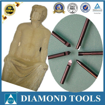 marble granite stones diamond pcd engraving cutter