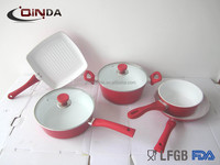 7pcs Forged die-casting aluminum cookware set