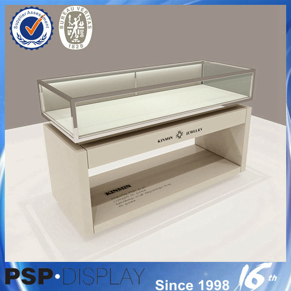 Latest manufacturing customized high quality luxury used jewelry display cases