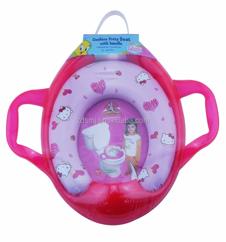 2016 hot selling colourfull base pvc printing baby/kids/child potty seat