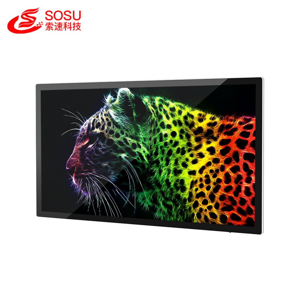 32/37/40/43/50/55/65 inch wall-hanging ad tv with 1080p lcd commercial advertising display screen in supermarket