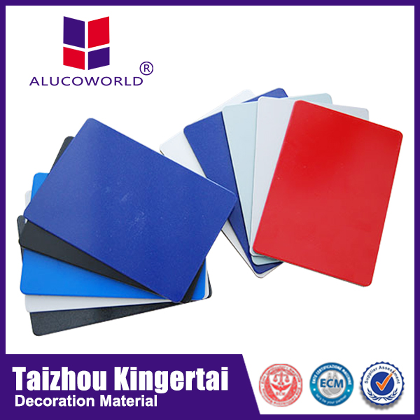 Alucoworld brushed, Mirror, PE coated, PVDF coated surface treatment all kinds of aluminum composite panel