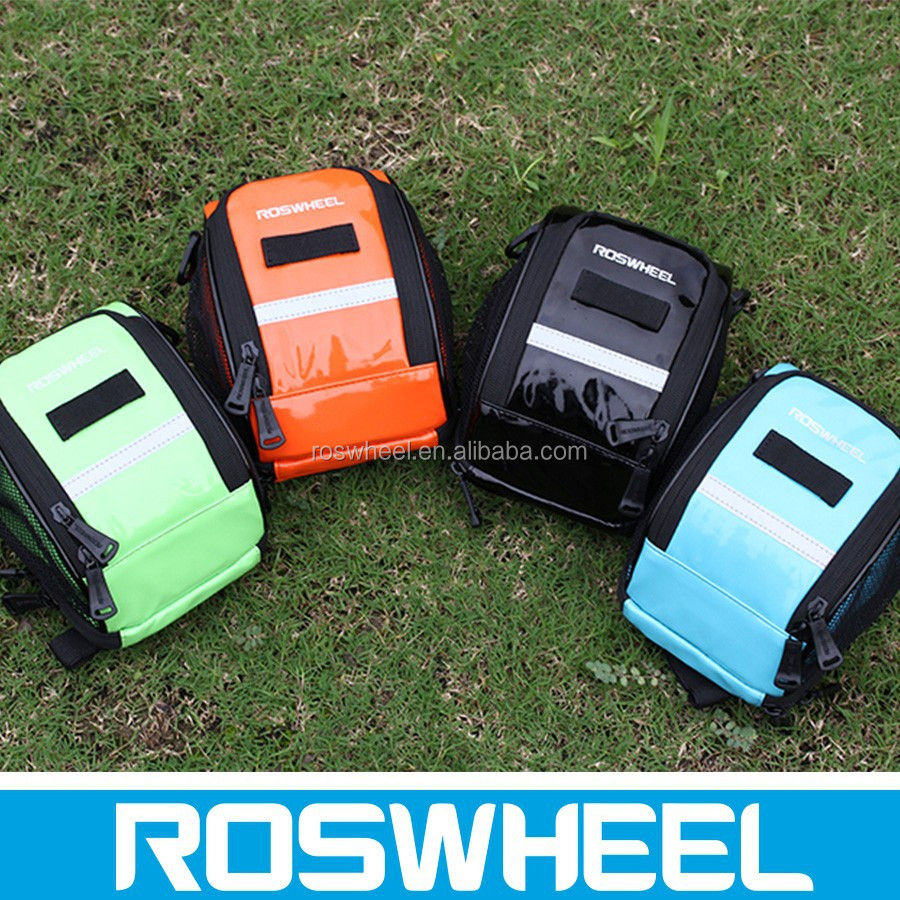 Wholesale new style colourful folding waterproof bicycle travel handlebar bags 11895