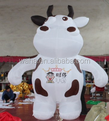 Custom advertising promotion inflatable cow,inflatable cartoon model,cartoon inflatable animal model (HOT)