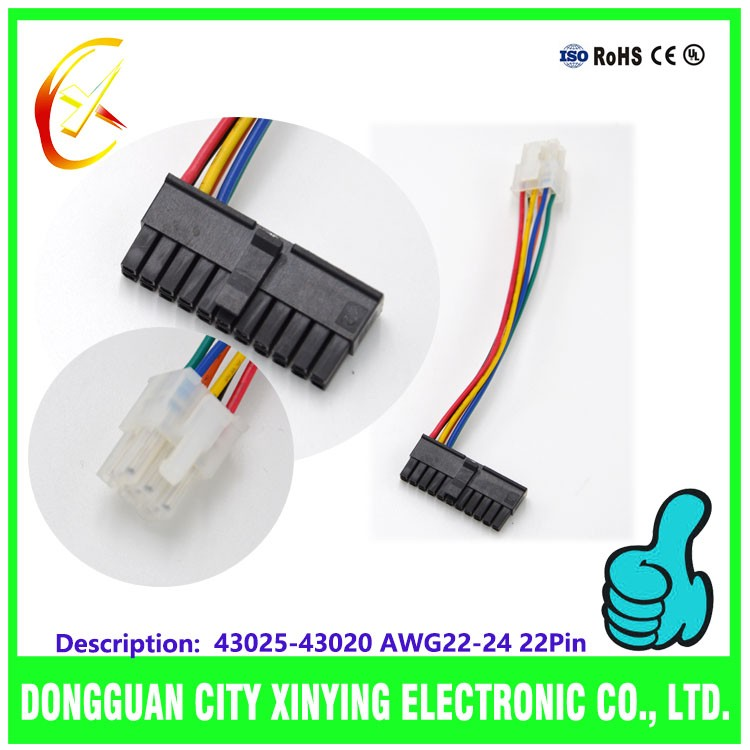 made 22PIN molex 5556/5558a/5557 4.2pitch connector housing wire cable for auto
