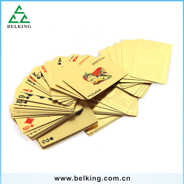 Hot Sale Luxury Golden Poker Playing Card For Women/Men PVC Durable Poker Card