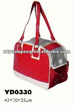 car carrier red carrying soft dog cage pet house cat carrier