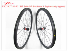 Tubeless ready MTB carbon bicycle wheels 30mm 30mm with DT 240 disc hub 28H/28 custom spoke holes Farsports wheels OEM