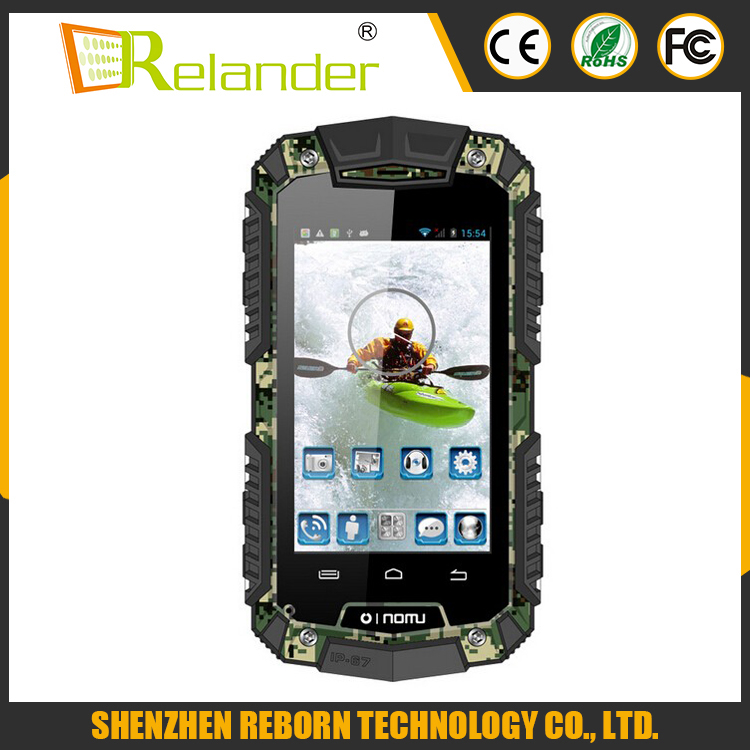 3.5 inch IP67 rugged Waterproof walkie talkie phone with GPS