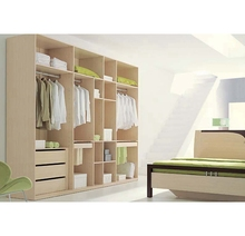Hangzhou Modern Style Wooden Wall Sample Bedroom Wardrobe With Drawers