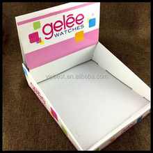 Custom Cardboard Paper Printed Corrugated Retail Counter Display Box