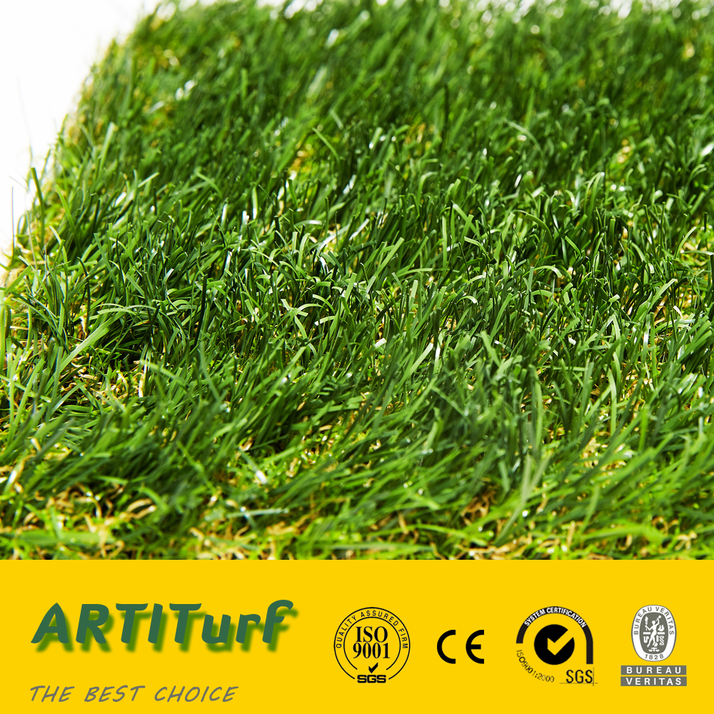 SGS CE UV test easy to maintenance green artificial grass carpet for decotation and landscaping