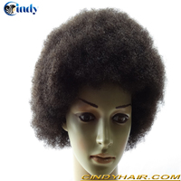 Big discount natural hairline afro kinky curly cheap toupee for men