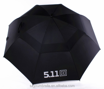 black advertising golf umbrella with shoulder strap straight cheap easy-carry sun umbrella