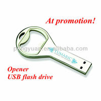 OEM Factory price can operner usb flash drive /bottle opener keychain usb