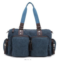 fancy canvas plain weekend shoulder travel bag
