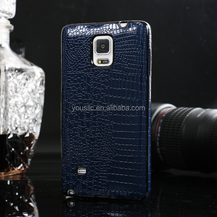 Luxury PU Leather Soft TPU Case For Samsung Galaxy Note 4
