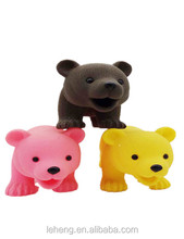 2018 Promotion plastic colorful squeeze bear animal toys for kids