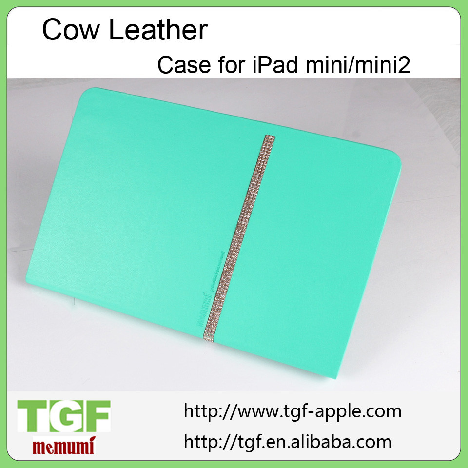 Ultra Thin Slim Two Fold Leather Case For ipad Mini Stand Function Cover