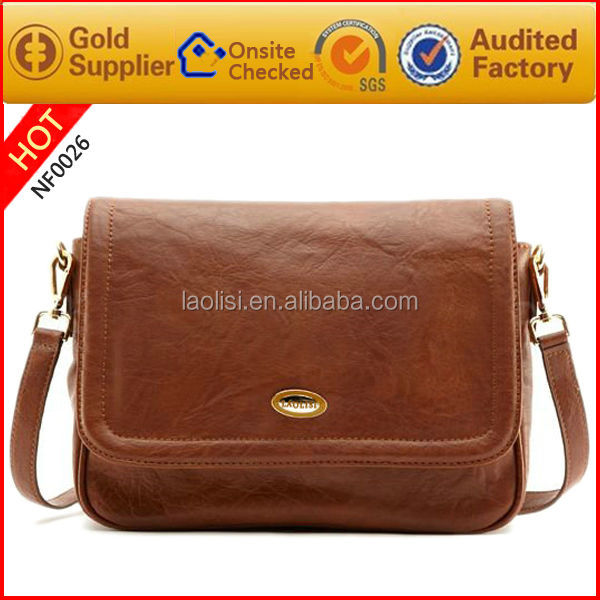 wholesale factory indian style genuine italian leather felt bag for men