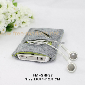 Premium recycled felt mobile phone bags for bags
