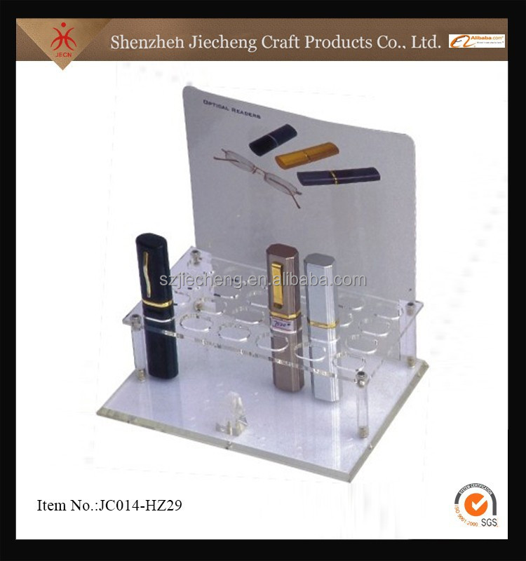 china supplier acrylic cosmetic display shelf