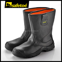 Winter warmly leather safety steel toe boots rigger boots safety footwear TPU support system