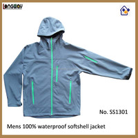 2015 BEST SALE 3 LAYERS WATERPROOF SOFTSHELL MAN JACKET