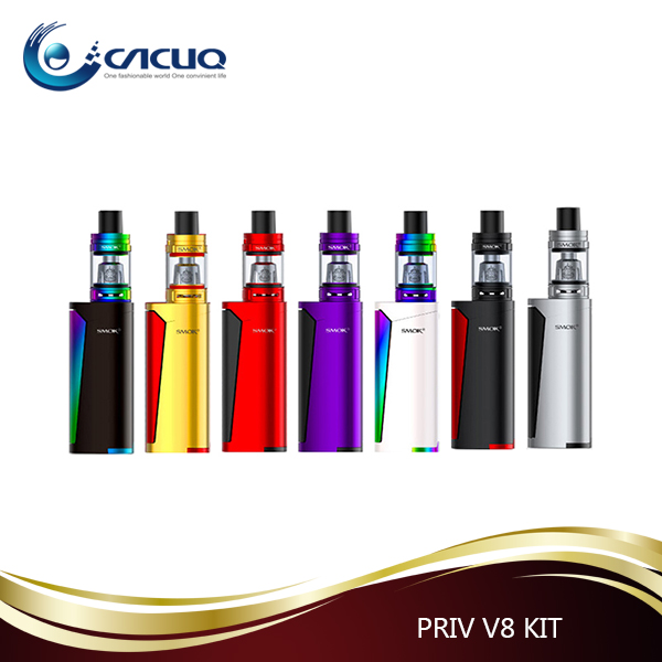 2017 SMOK Newest e cigarette Priv v8 kit with TFV8 baby tank