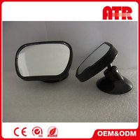 Professional factory made good quality black car mirror convex