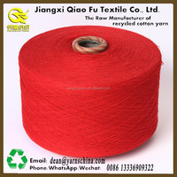 blend yarn good quality China factory regenerate cotton yarn for socks super white Ne20s