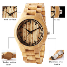 <strong>Hot</strong> In Stock Wood Watch With Custom Engraving Logo Natural Wooden Quartz Clock OEM watch