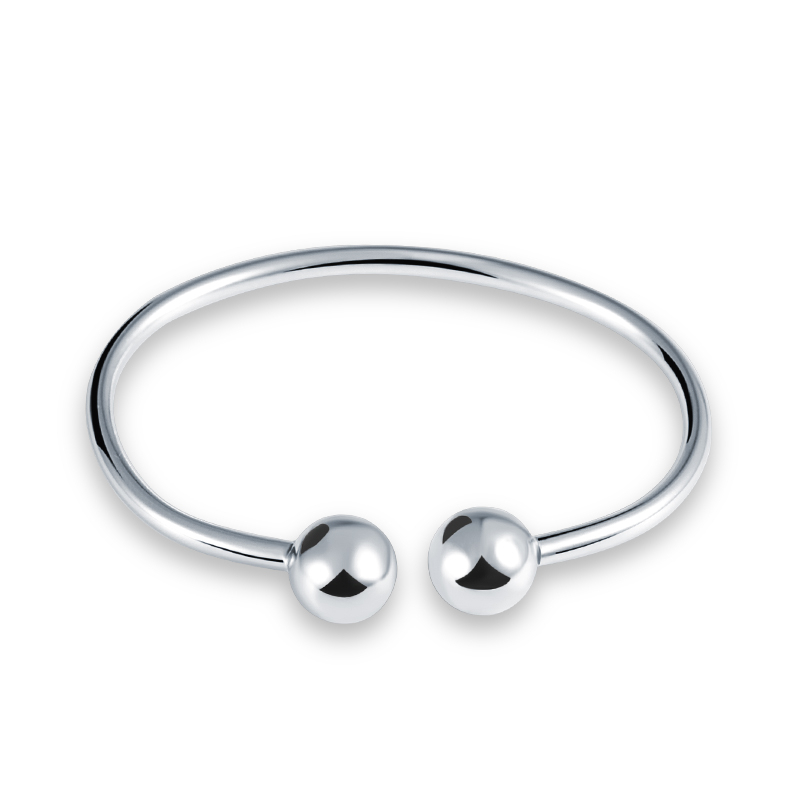 Solid Sterling silver simple style cuff bangle