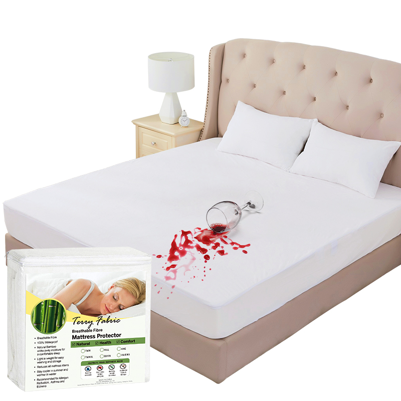 Waterproof Zippered Mattress Cover Non Allergenic Vinyl Bed Bug Protector