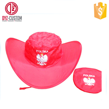 Promotion Polyester Folding Cowboy Hat Custom Printed Foldable Cowboy Hat