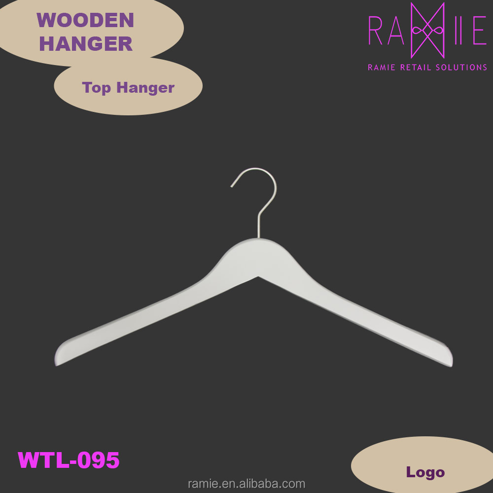 Light grey wooden coat hanger
