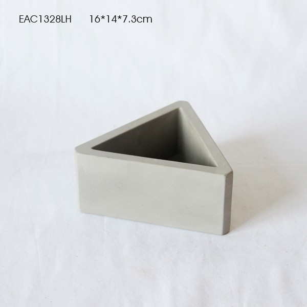Concrete design homewares polystone flower pot