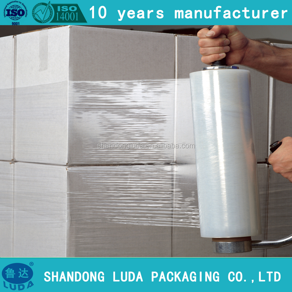 Luda High Quality cling wrap Film /machine use high tensile lldpe cling wrap film for package