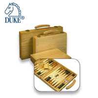 High Quality Vintage Wooden Backgammon Game Set With Metal Clasp