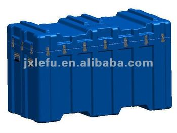 Heavy duty plastic warehouse storage box for tools