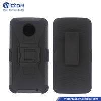 china direct buy wholesale price accessories 3in1 PC+TPU Robot kickstand case for MOTOROLA Z2 play