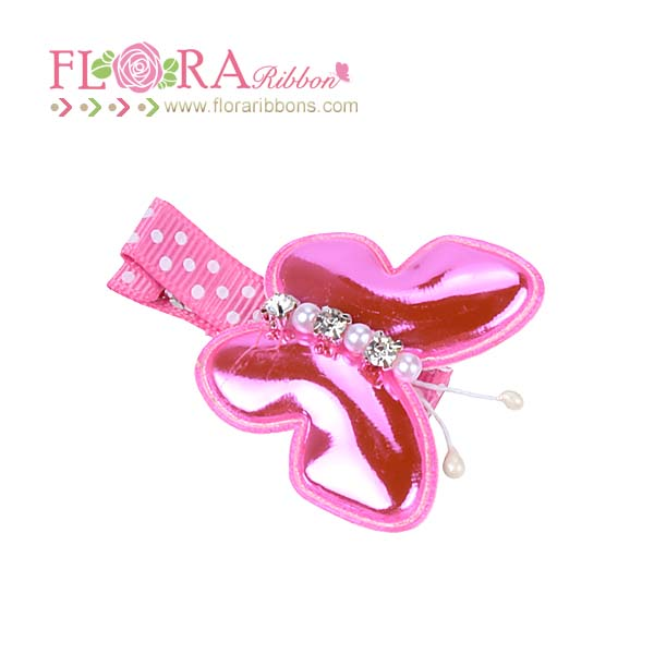 Fashion design sparkle butterfly accessories girls hair clips