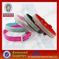 custom leather pets and dogs rhinestone dog collars