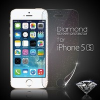 Fashionable Clear matte mirror diamond screen protector for iPhone 5 5c 5s