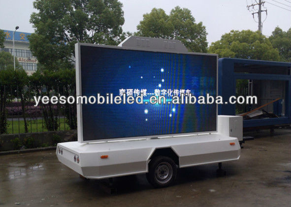 YEESO Attention!!! YES-T5 Outdoor Mobile Advertising LED Wall Mounted on Trailer & With Screen Lifting System