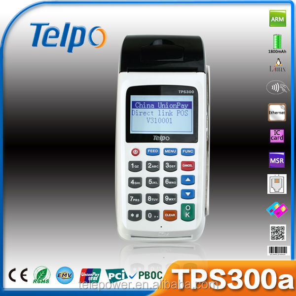 Telpo TPS300a handheld rbd palm olein cp10 for Payment/Lottery/Bus Ticketing