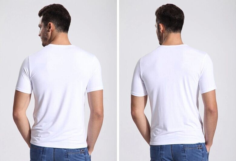 Plain 100% Cotton V Neck T Shirts Men Custom China Wholesale T Shirts