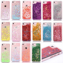 Popular Sequins Fresh Quicksand Star Glitter Mobile Phone Case for Iphone 7 Plus Samsung S7